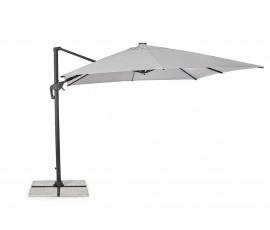 Parasol excéntrico Ines 3x3 LED, color gris claro