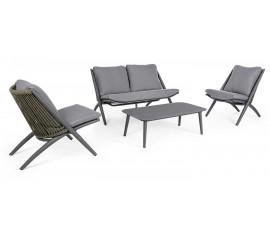Conjunto Aloha sofá + 2 sillones + mesa