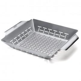 Cesta de acero inoxidable para hortalizas Weber® 30 x 35 x 6.5 cm
