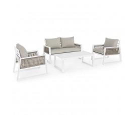 Conjunto Captiva sofá + 2 butacas + mesa