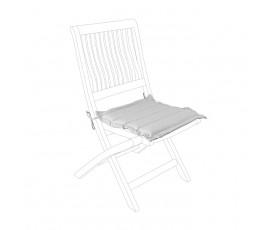 Cojín acolchado para asiento, color perla