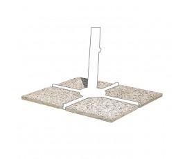 Set 4 baldosas cemento 50x50cm