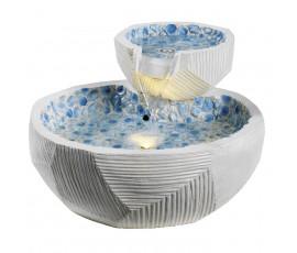 Fuente con bol grande y pequeño, iluminación LED