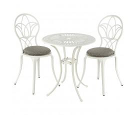 Conjunto Bistro Saint-Tropez Ø66cm mesa + 2 sillas