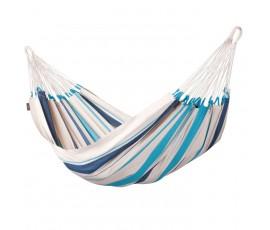 Hamaca individual de algodón Caribeña, color Aqua Blue