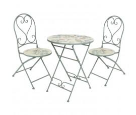 Conjunto Panamá Ø76cm mesa  + 2 sillas