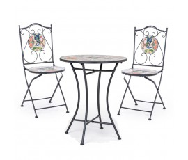Conjunto Paloma mesa Ø60 + 2 sillas