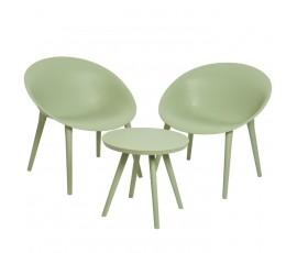 Conjunto Marbella mesa Ø 50 cm + 2 sillas