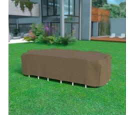 Funda mesa rectangular + 8 sillas 325 x 205 x h.90 Nortene